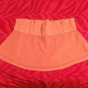 Terry cloth mini skirt